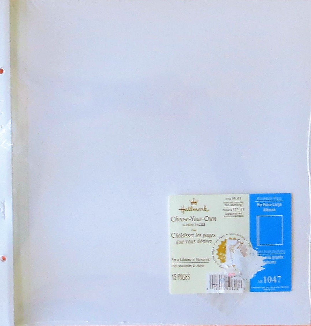 Hallmark AR1047 Refill 15 White Pages for Extra Large Scrapbook Album