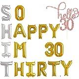 Amazon.com: Decoración de 30 cumpleaños para ella – Globos ...