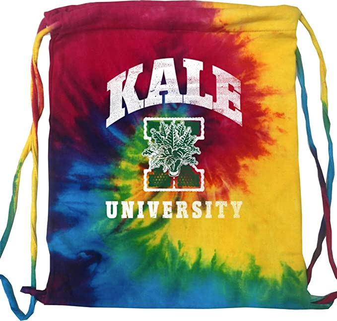 653ef9b185fb Amazon.com: Yoga Kale University Darks Tie Dye Drawstring Sport Bag ...