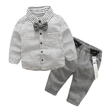 3d1c5cd627b03 La Cabina Bébé Garçon Boy Ensemble de Costume en 2 PCS Luxueux Chemise  +Pantalon pour