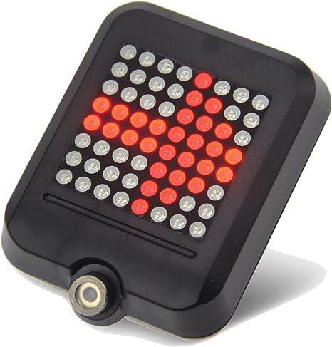 Eroilor USB recargable bicicleta luz trasera, 64 LED Luz trasera ...