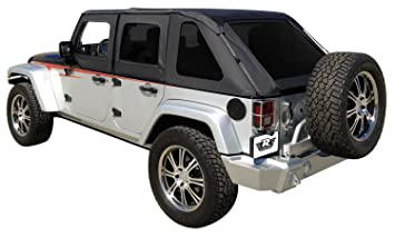 R&age Products 109835 Black Frameless Soft Top Kit with Tinted Windows for Jeep Wrangler JK Unlimited  sc 1 st  Amazon.com & Amazon.com: Rampage Products 109835 Black Frameless Soft Top Kit ...
