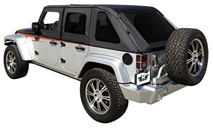 Rampage Products 109835 Frameless Trail Top For 2007 2018 Jeep Wrangler JK 4  Door