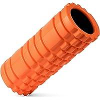 Rodillo de espuma de alta densidad Vikaster (6 colores 13 '' x 5.5 '') para Pilates y yoga Estiramiento, ejercicios de equilibrio, fisioterapia y masaje de puntos profundos o puntos gatillo-Reducir el dolor de los músculos tensos