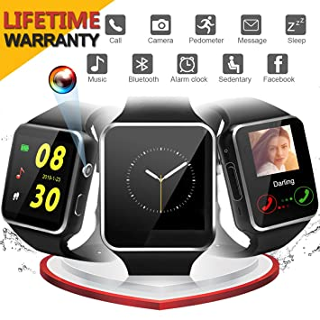 Reloj Inteligente, Smartwatch con Pulsómetro Correa (X6 ...