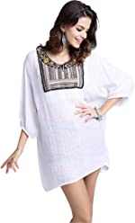 7a897e6d806 Arctic Cubic 3 4 Sleeve Baroque Ethnic Tribal Aztec Embroidered Embroidery  Mini Swing Trapeze Dress