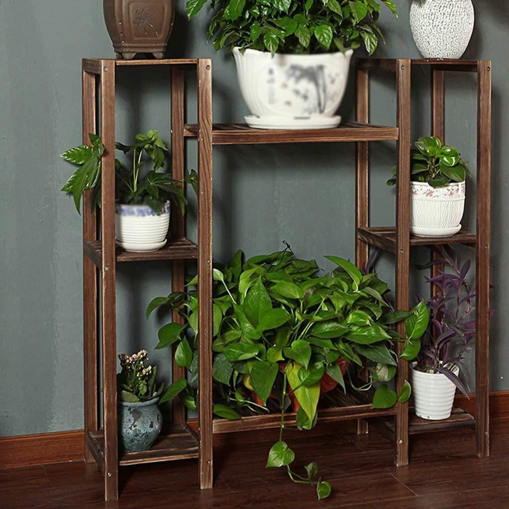 DEED Supporto per fiori in legno multifunzionale Contenitore per vasi per bonsai per interni e per esterni Balcone decorativo per soggiorno