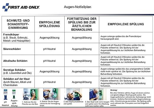 First Aid Only P-44010 00 Augen-Notfallstation in staubdichter ...