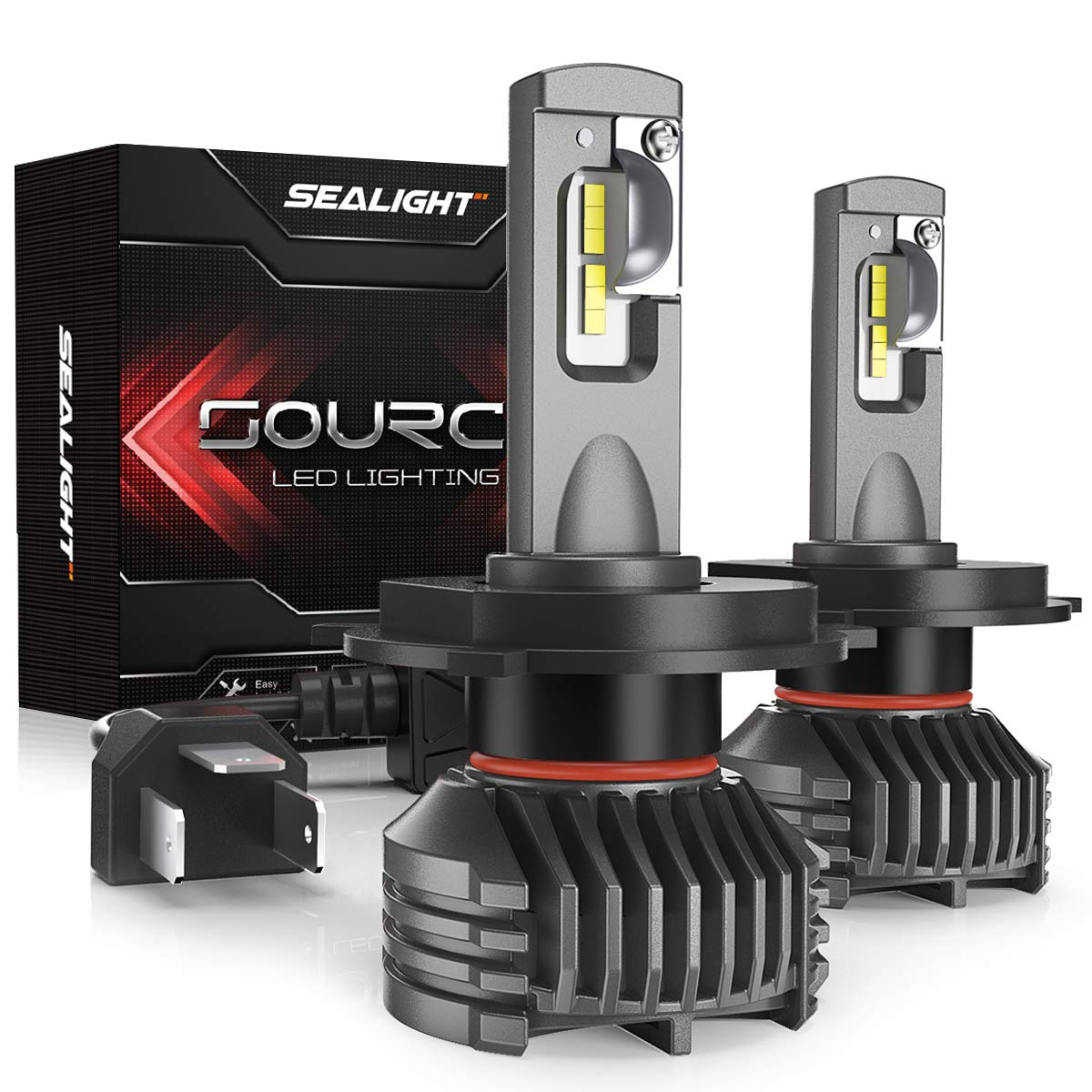 H4/9003 Hi/lo LED headlight bulbs 12,000 Lumen High Power 6000K SEALIGHT S3 Upgraded Series 3 Yr Warranty(2 Pack)