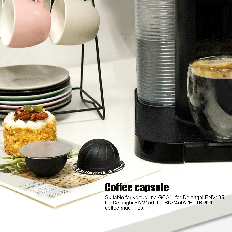 Ladieshow 2Pcs 230ml Coffee Capsule Filter Cup W//Lamina di alluminio usa e getta Accessorio per Nespresso Vertuo