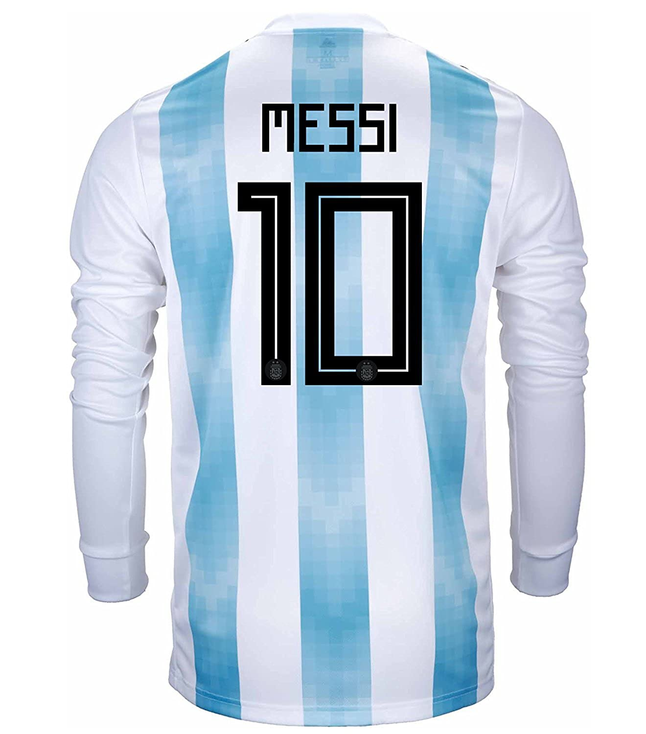 adidas Messi #10 Argentina Men's Home Soccer Jersey Long Sleeve World Cup Russia 2018 B079YYB19X US Medium
