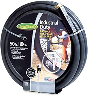 """product image for Green Thumb 136911 5/8"""" x 50' Black Rubber Garden Hose"""