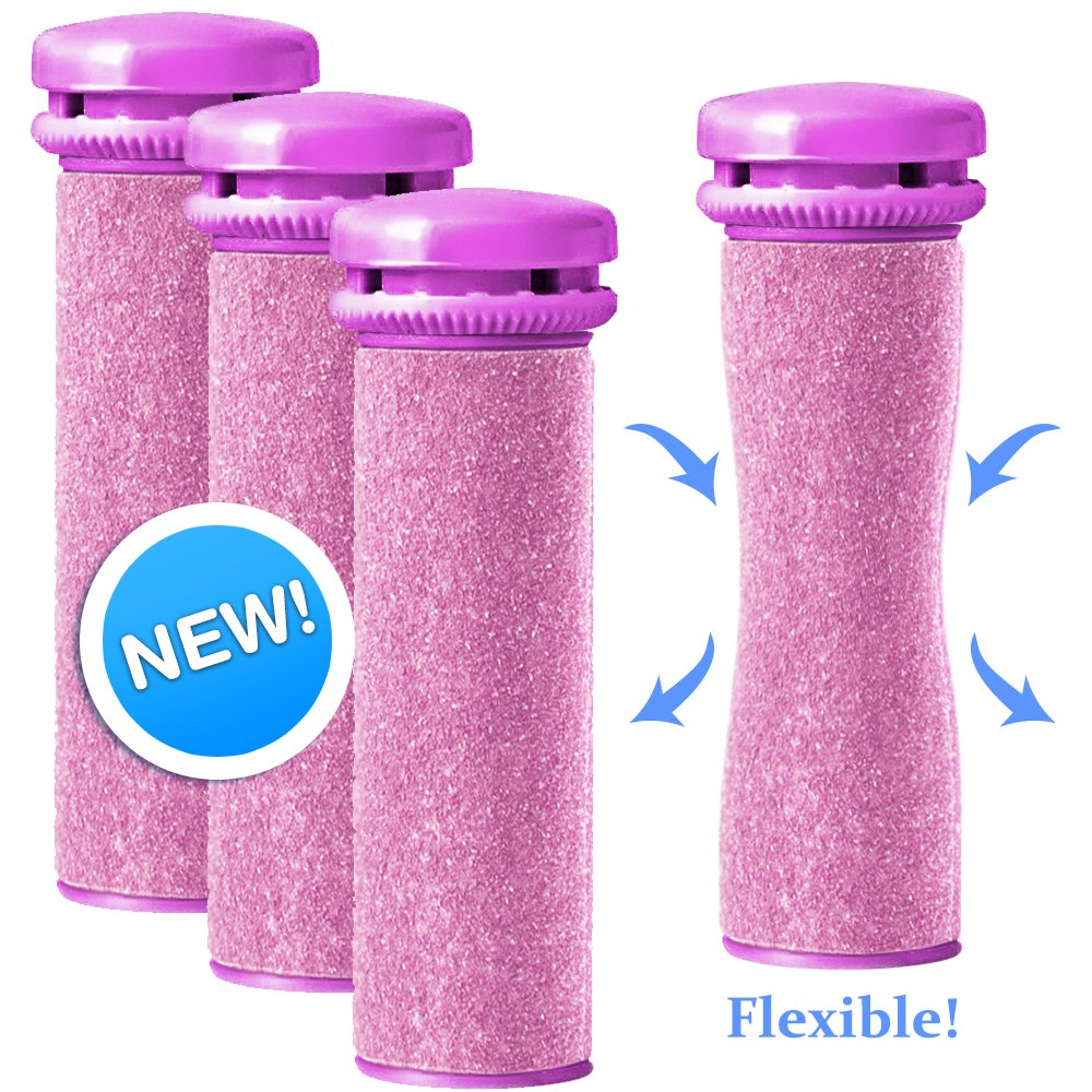 Emjoi Micro-Pedi Compatible SoftFLEX Technology Refill Rollers (Extra Coarse) - Pack of 4 PediActive