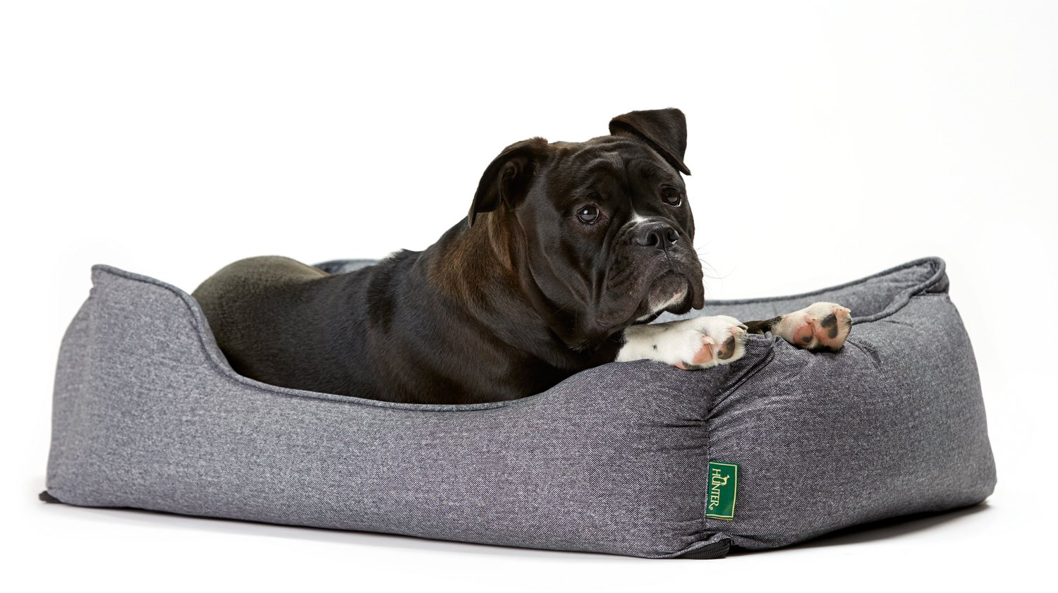 Hunter Boston 61431 Dog's Sofa Large Outer Dimensions 100 X 72 X 27 Cm /  Inner Cushion 85 X 52 Cm Grey: Amazon.co.uk: Pet Supplies