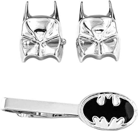 Marvel Batman Flash Super Hero Cufflinks Tie Clip Men Jewelry Star Wars Trek