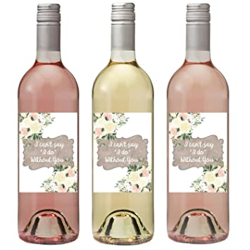 amazon com wedding wine labels will you be my bridesmaid wine