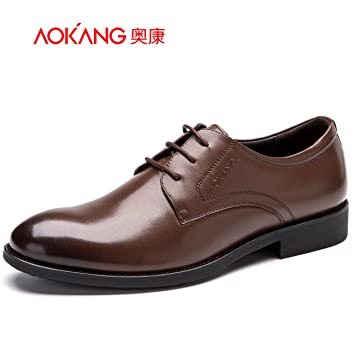 Men'S Shoes Men'S Business Suits Shoes Male Pig Comfort Sockliner Cushioning Low-Cut Shoe 42 Brown