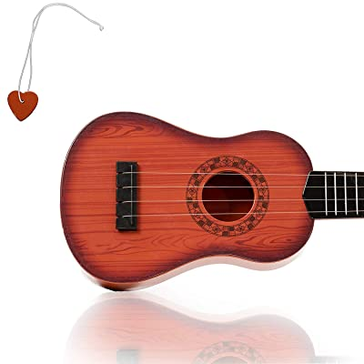 KidsTech 4 String Acoustic Guitar Toy for Kids with Vibrant Sounds and Tunable Strings: Toys & Games