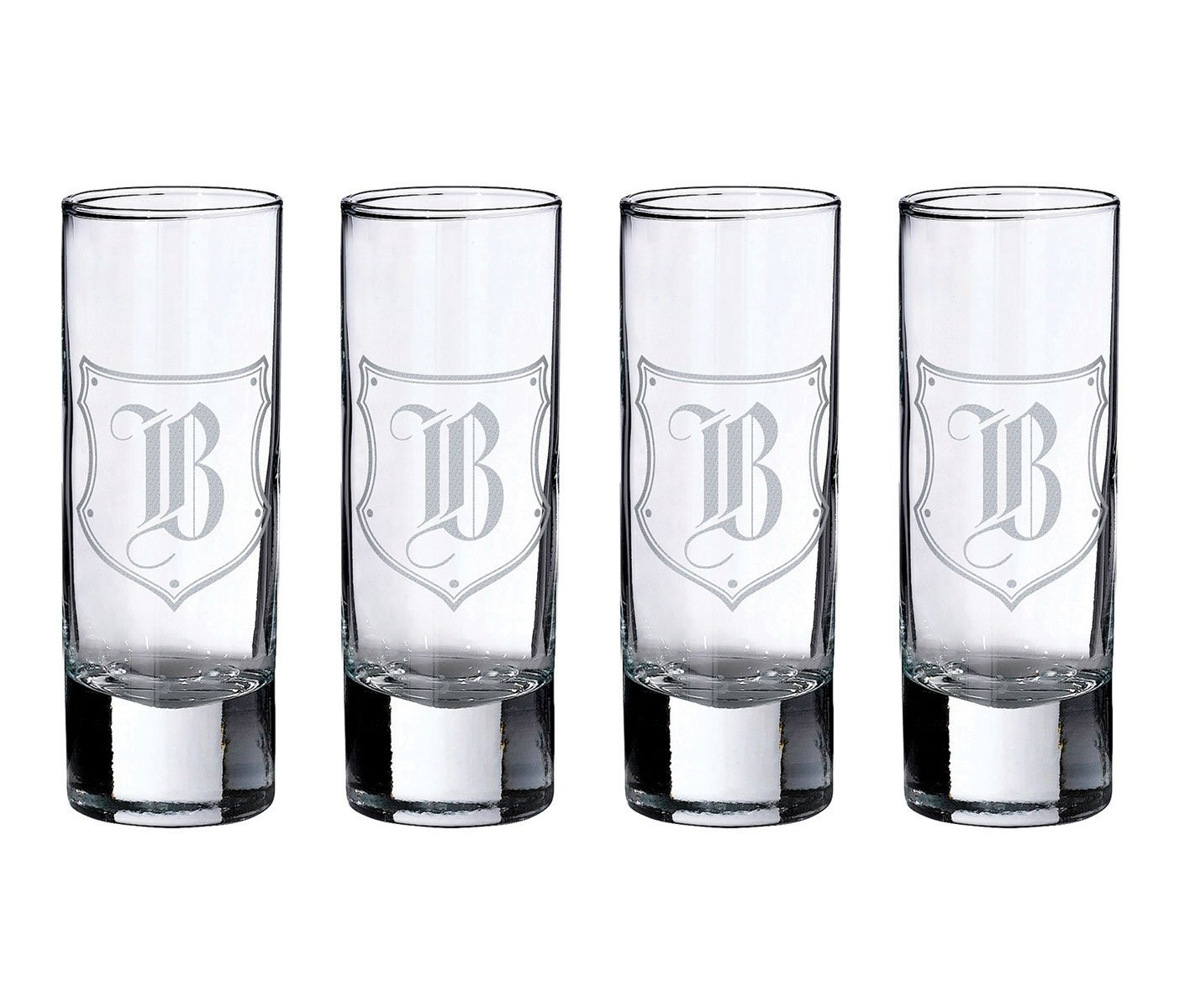 Lillian Rose Personalized Set of 4 Monogram Letter A Shot Glasses G152 A