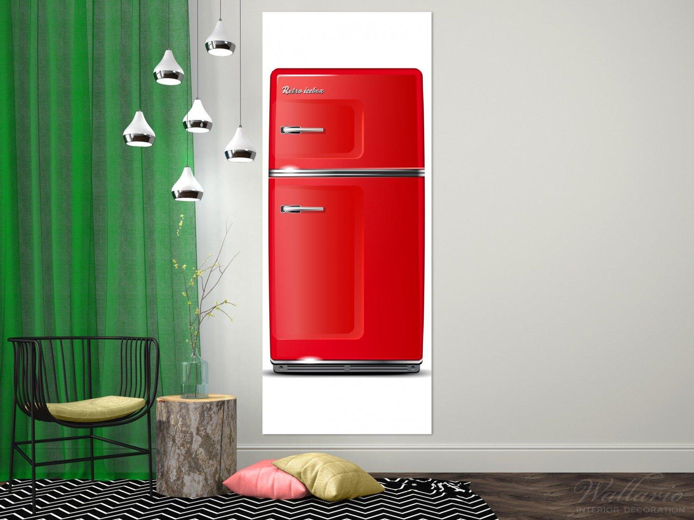 Retro Kühlschrank 80 Cm : Wallario acrylglasbild xxl roter kühlschrank cm in
