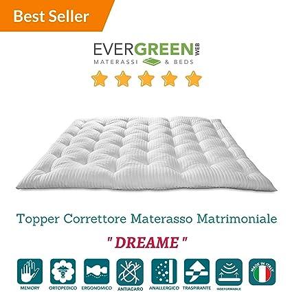 Evergreenweb - Correttore Materasso in Memory Foam MED, misura ...