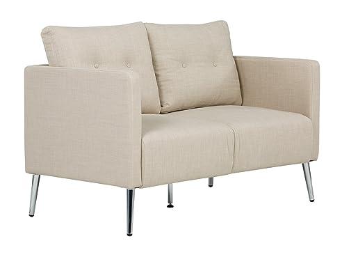 massivum Sofa Melrose 2Sitzer Stoff beige Couch Polstermöbel ...