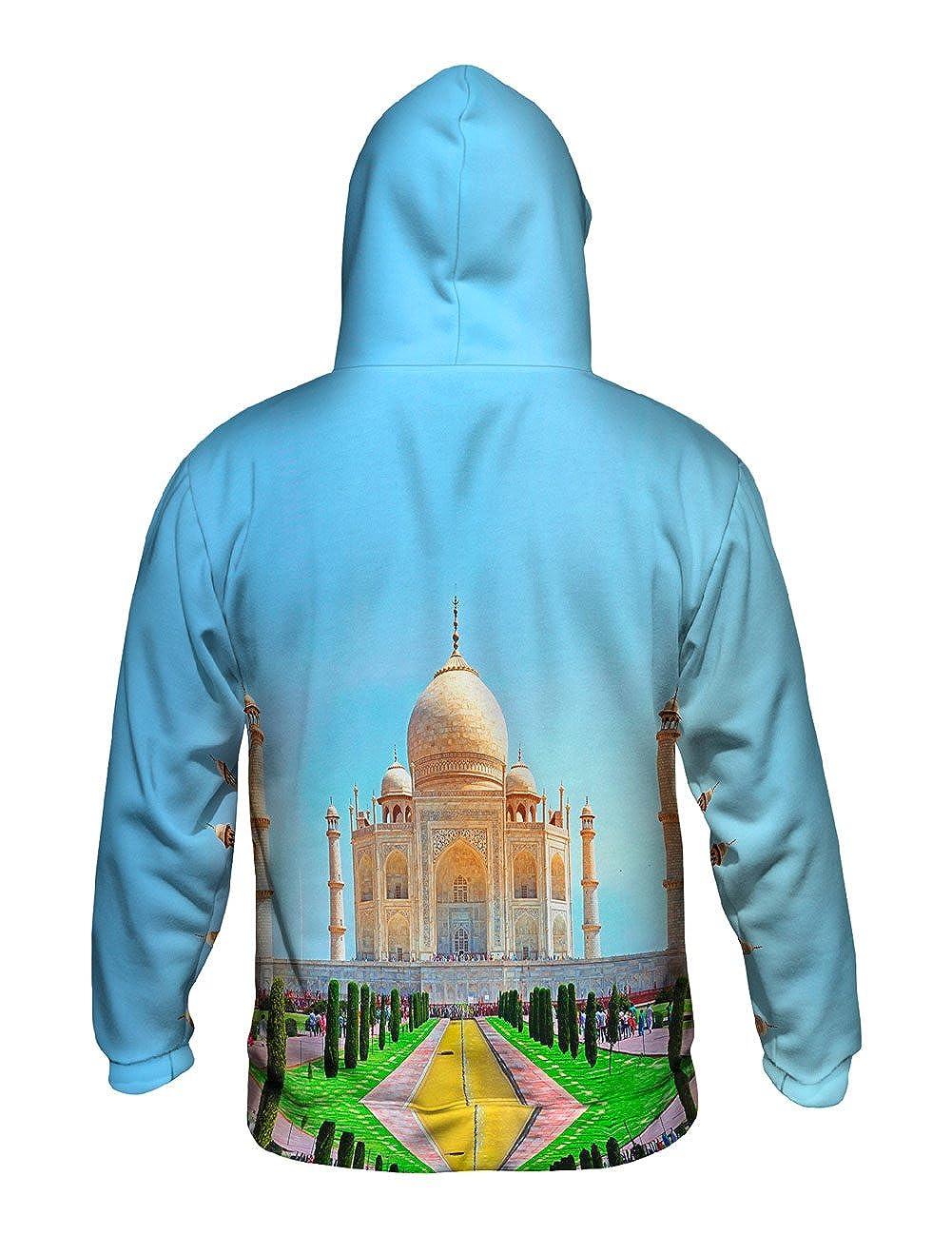 Mens Hoodie Sweater Yizzam Sunny Day Taj Mahal India Allover Print