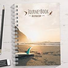 Reisetagebuch Australien zum selberschreiben/als Abschiedsgeschenk - DIN A5 mit interaktiven Aufgaben und Challenges und Reise-Zitaten