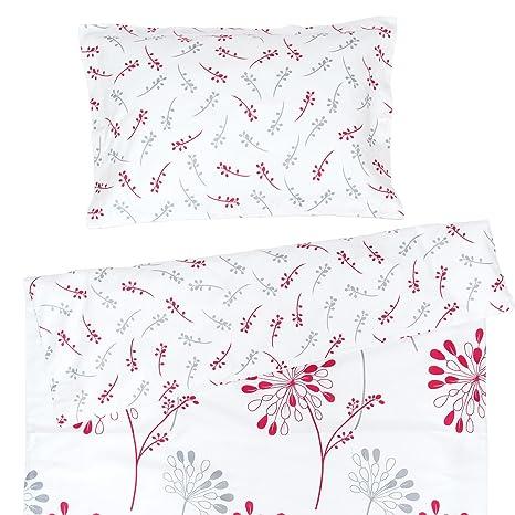 Isabella - Ropa de cama para minicuna, 100% Algodón (funda de edredón 80x120