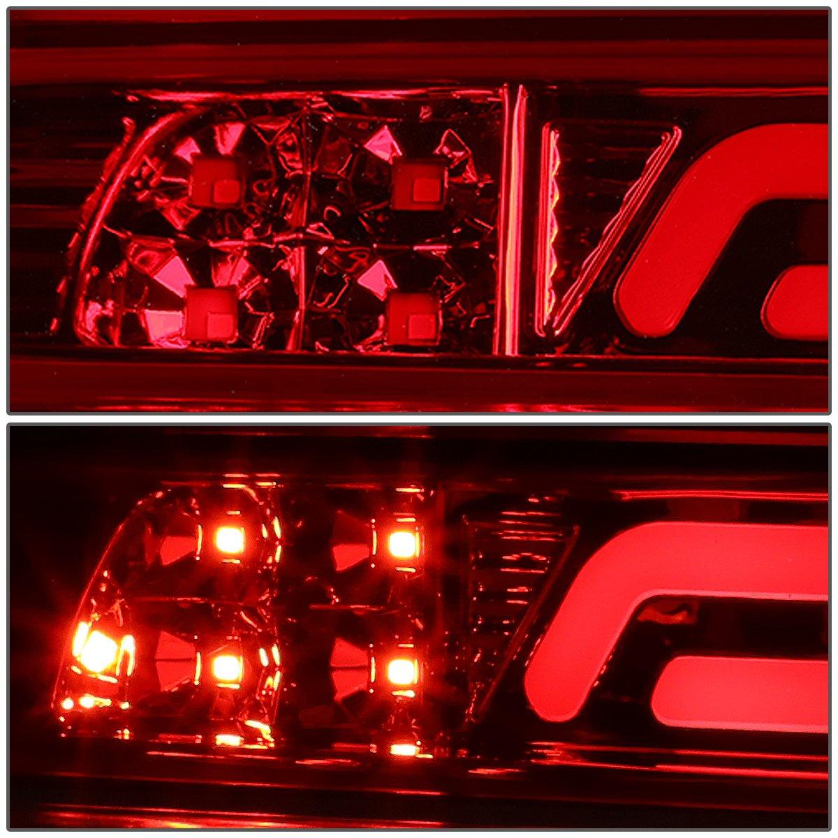 DNA MOTORING 3BL-TTU07-3D-LED-BK-SM 3D LED Bar Third Brake//Cargo Light Black//Smoked for 07-18 Tundra