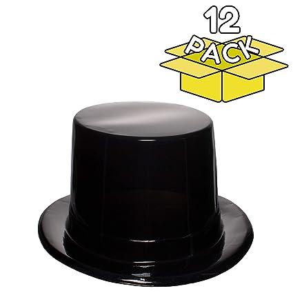 b8f902c230ea2 Amazon.com  Black Plastic Top Hats - 12 Pack  Kitchen   Dining