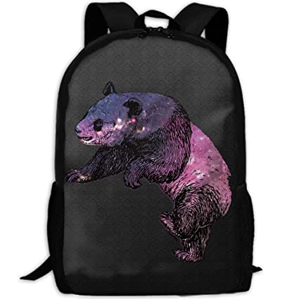 Image Unavailable. Image not available for. Color  Backpack Fashion Galaxy  Animal Of Panda Womens Laptop Backpacks Shoulder Bag Travel Daypack e961464f8297d