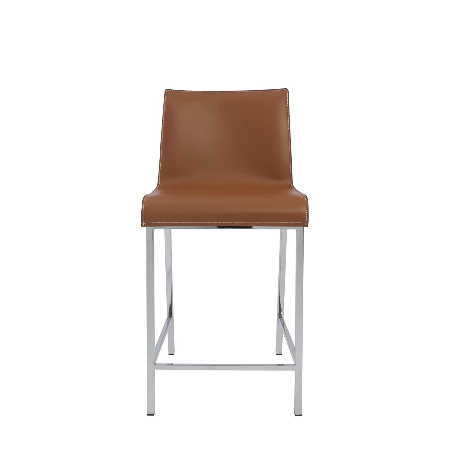 amazon com euro style cam leather counter height dining stool