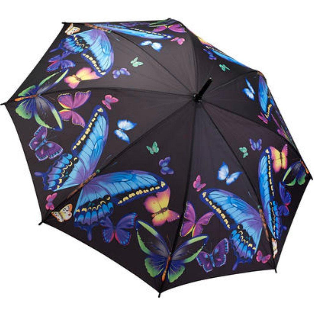 Damen Stockschirm Regenschirm Motiv Bunte Schmetterlinge Rosemarie Schulz Heidelberg