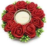 Satyam Kraft Diwali Collection Designer Hand Crafted Festive Decor Floral Diya thali with moti stand /Tealight Candle Holder Pooja Thali Traditional Diwali decor/Diwali pooja/Diwali decor/diwali gift/gift(1 Piece)