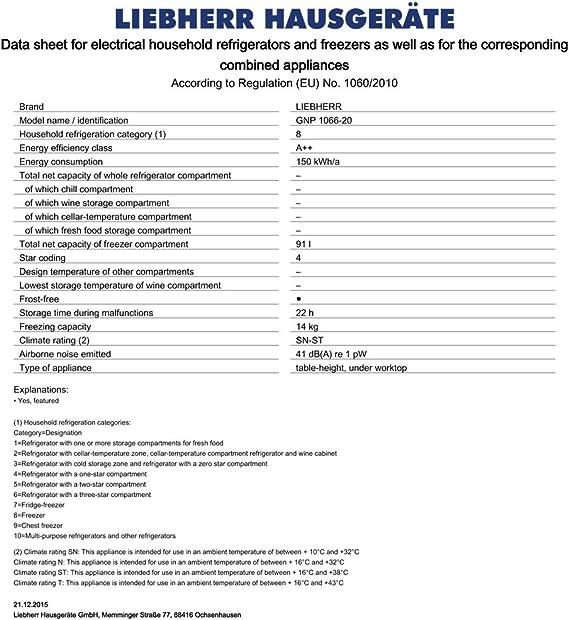 Liebherr GNP 1066 - Congelador Vertical Gnp1066 No Frost: 463.43 ...