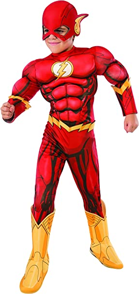 Rubies Costume DC Superheroes Flash Deluxe Child Costume, Large