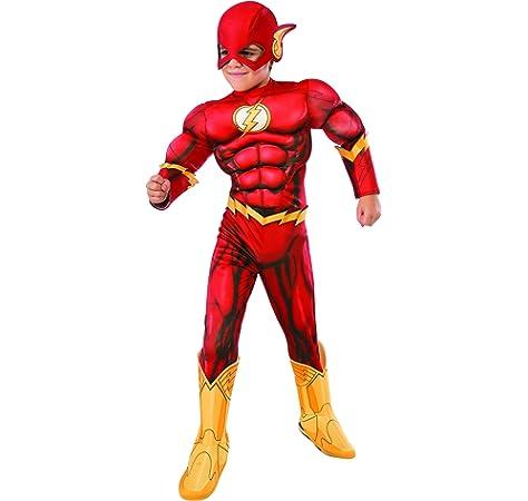 Disfraz de disfraces Flash de superhéroe para niños Edad: 10-12 ...