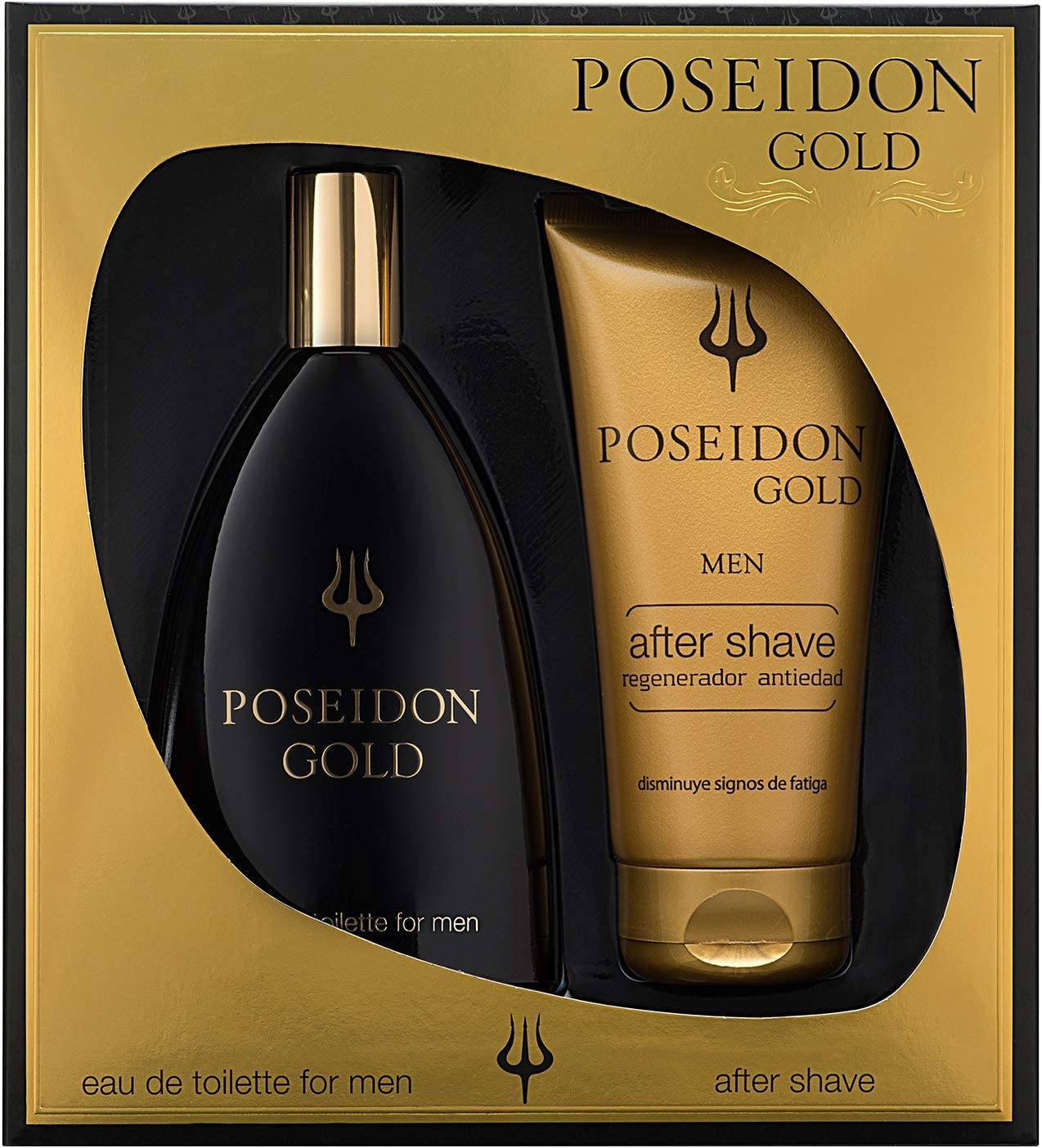 Poseidon Gold Eau de Toilette para Hombre - Set Colonia 150 ML y After Shave