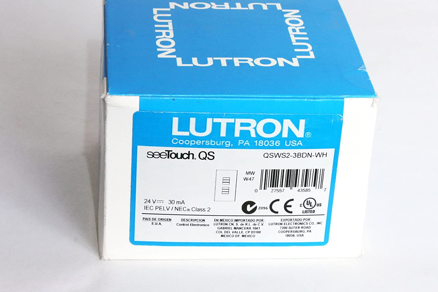 Amazon.com: Lutron QSWS2-3BDN-WH Electrical Distribution Wall Plate ...