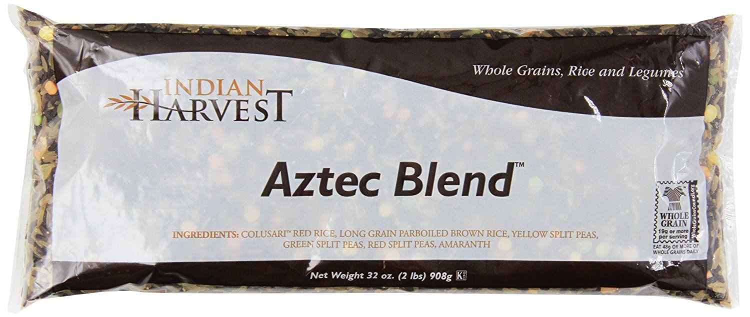 INDIAN HARVEST, AZTEC BLEND, Pack of 6, Size 2 # - No Artificial Ingredients Gluten Free Low Sodium Vegan Yeast Free