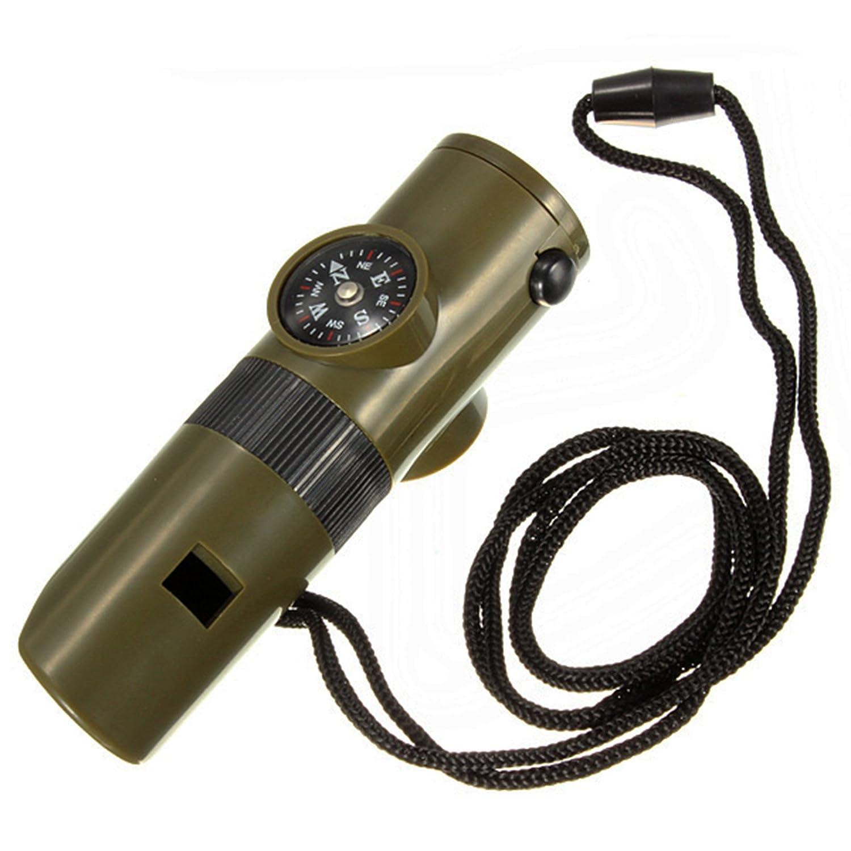 /Überlebensset Brujula Pfeife Thermometer Taschenlampe Lupe und Spiegel 2392