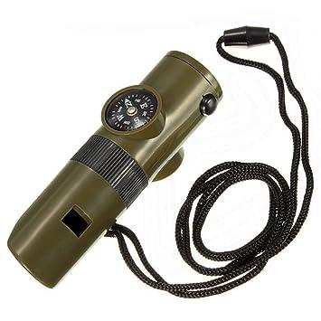 KIT de Supervivencia Brujula Termometro Lupa Linterna Silbato y Espejo 2392: Amazon.es: Electrónica