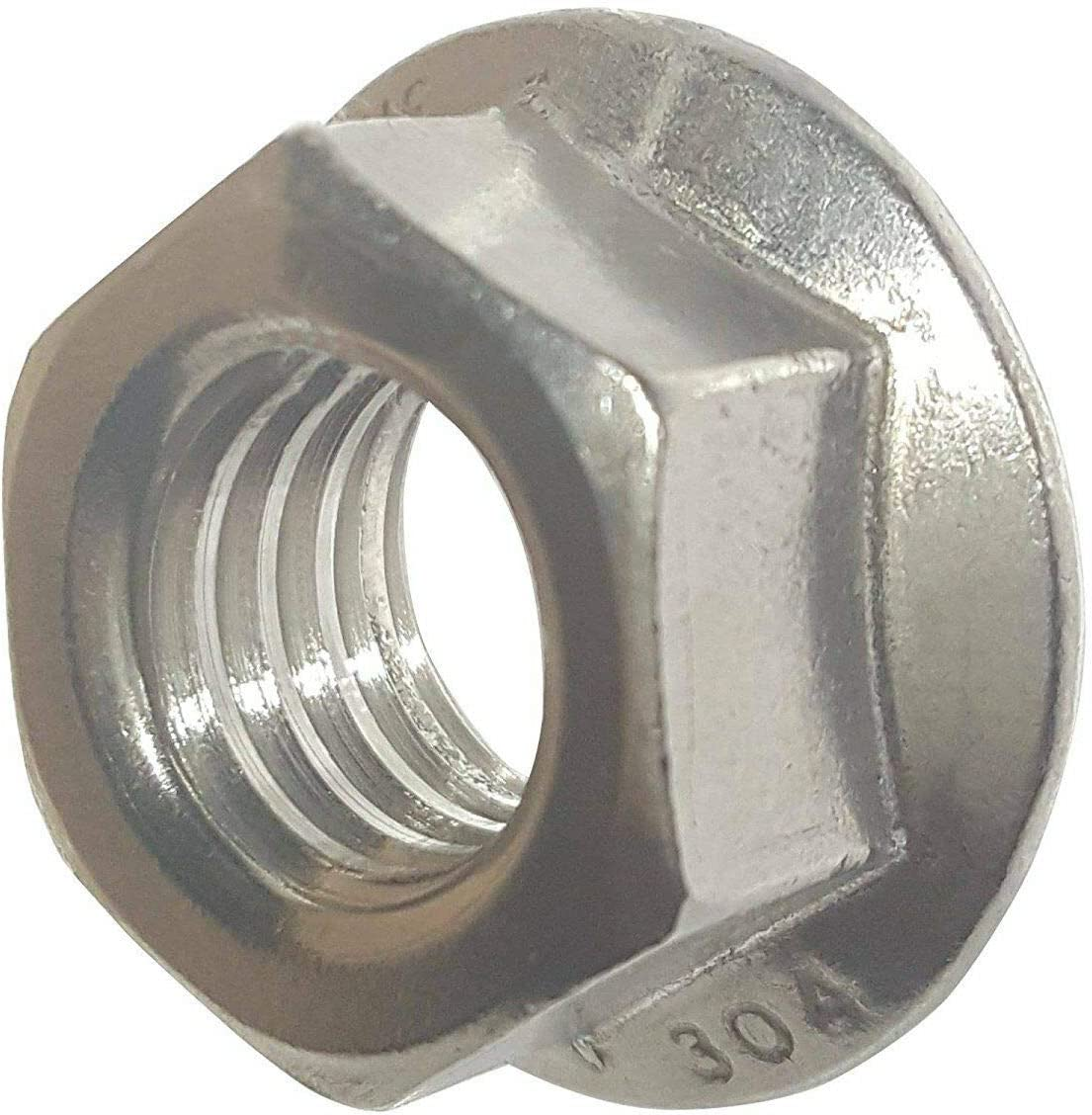 6-32 Stainless Steel Flange Nuts Serrated Base Lock Anti Vibration Qty 2500