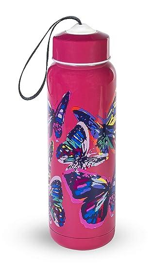Amazon.com: Vera Bradley Botella de agua aislada de acero ...