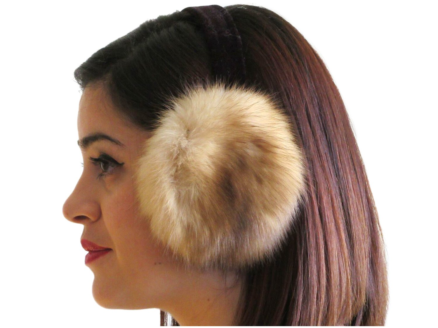 Natural Canadian Sable Ear Muffs by FursNewYork