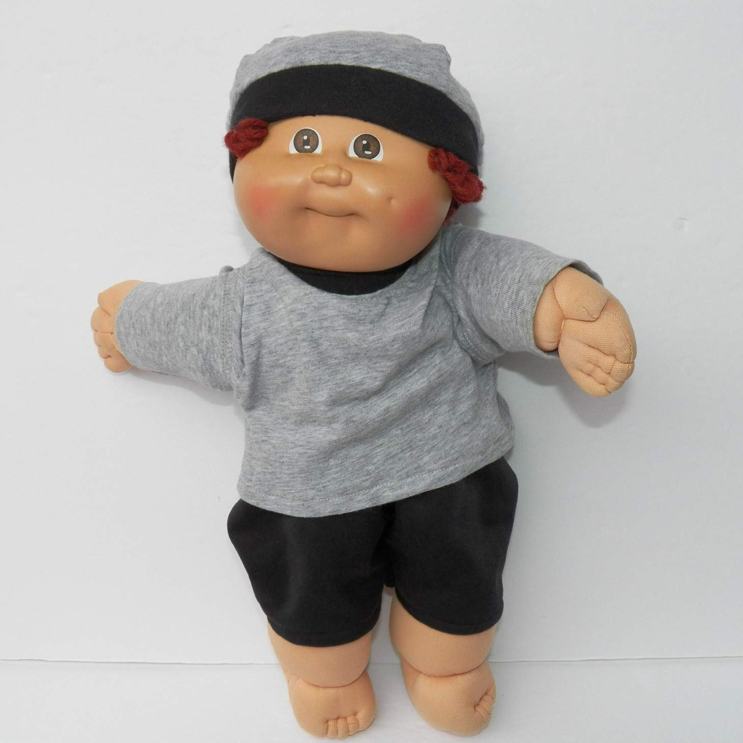 Cabbage Patch Doll Clothes 16 Inch Boy Size Brown Fall T Shirt and Pants Clothes Only