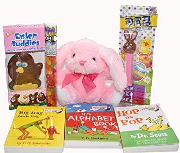 Amazon fun easter gift for toddlers with dr seuss board books fun easter gift for toddlers with dr seuss board books plush bunny chocolate negle Image collections