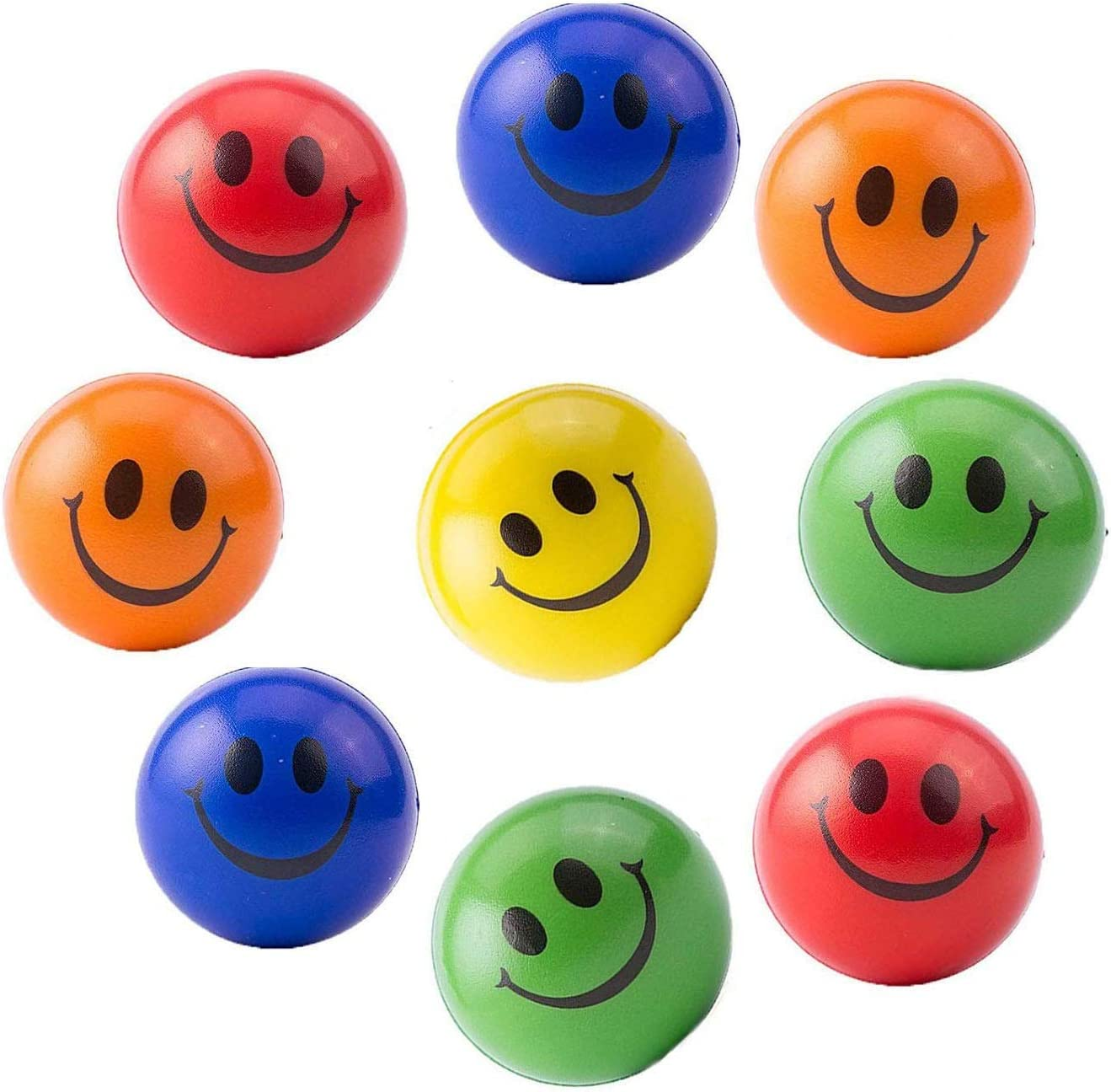 Novelty Childrens Craft Smiley Face Button Pack Of 6