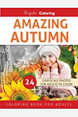 Amazing Autumn: Grayscale Coloring Book for Adults Paperback